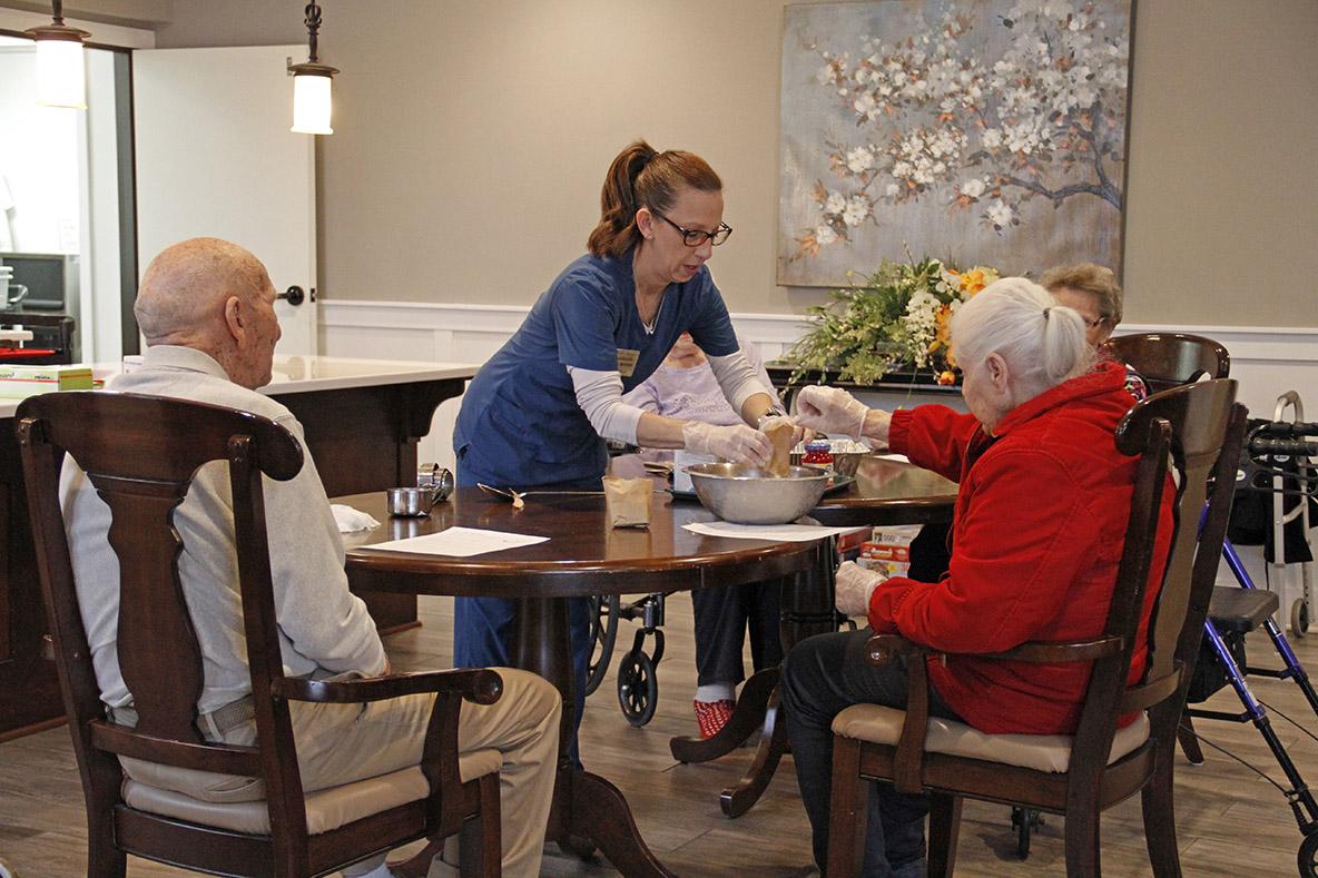 Residents Baking at Elysian Senior homes of Chanhassen